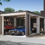 スタイルコートでガレージハウスに!車庫で車やバイクのメンテナンスも楽みたい。