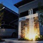幻想的な光の柱(草津市)