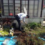 花壇作業と珍事件