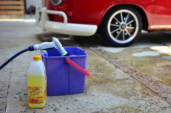 車の洗浄・洗濯用に利用