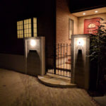 明るくやさしい雰囲気のある門柱