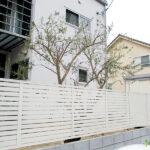 腐食した天然木フェンスのやり替え(木津川市)